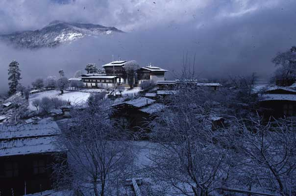 Ogyen Choling village is located in central Bhutan, in the valley of Tang, in Bumthang